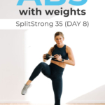 Ab Workout with weights pin for pinterest