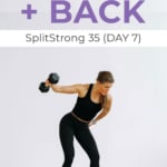 Back and Bicep Workout pin for pinterest