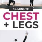 35 Minute Chest and Legs Workout At Home with Dumbbells