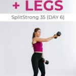 Chest and Legs Workout Pin for PINTEREST