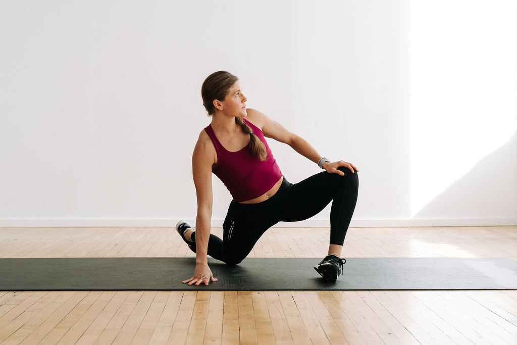 Dynamic Stretching   Low Lunge Hip opening stretch