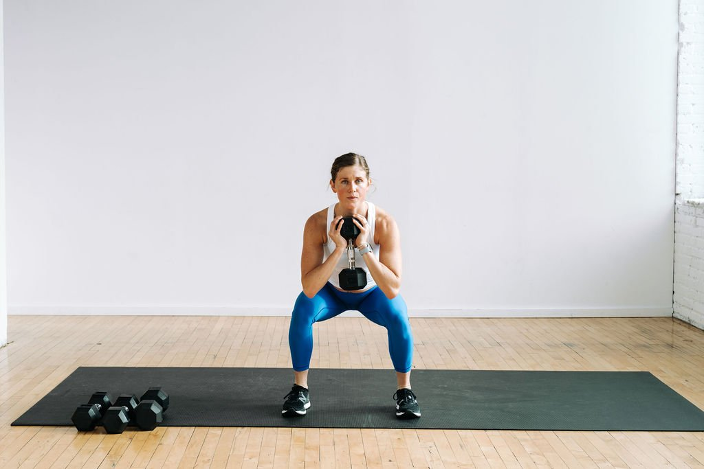 goblet squat to build muscle in legs and butt at home