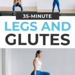 Leg and Glute Workout pin for pinterest