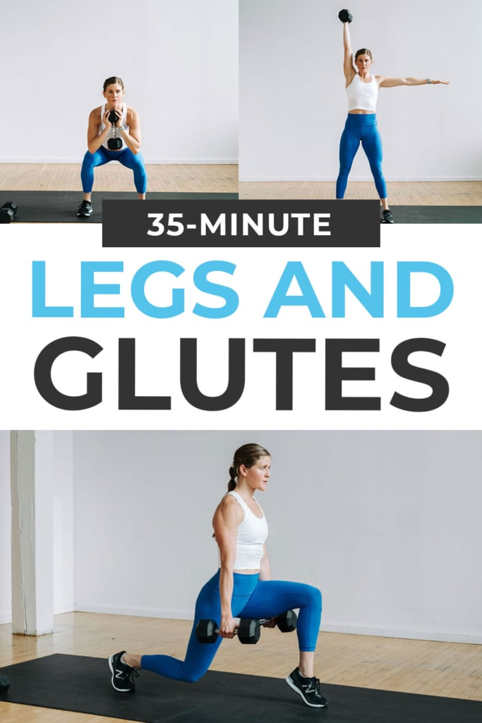 Leg and Glute Workout At Home pin for pinterest