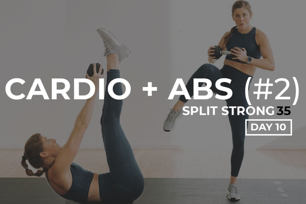 Cardio and Abs Workout with Weights At Home