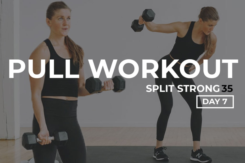 Upper Body Pull Workout At Home: Back and Biceps Workout with Dumbbells