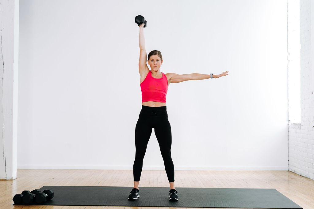 best ab exercises using weights   single arm press