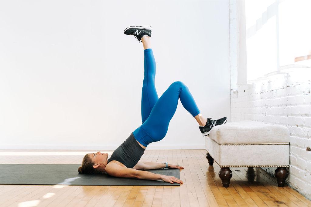 single leg glute bridge   unilateral leg exercises