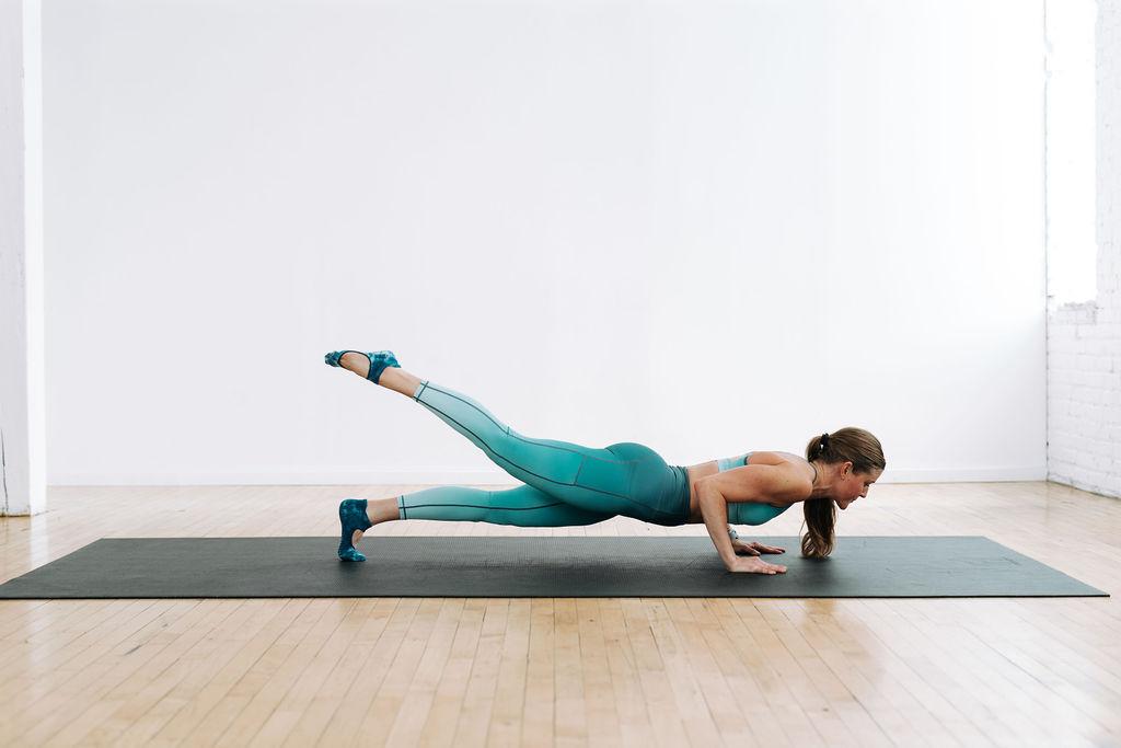 power yoga workout at home   chatarunga push up