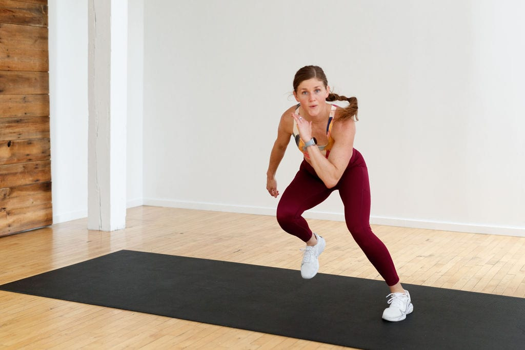 Bodyweight Tabata Workout At Home lateral bound