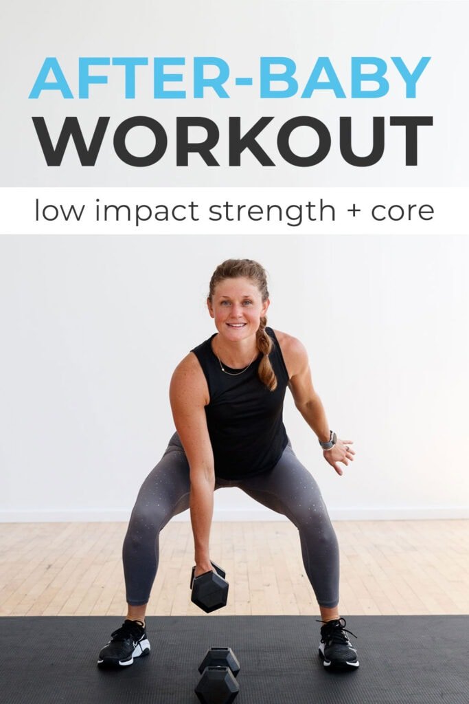 9 Postpartum Exercises After Baby | Low Impact Strength Workout