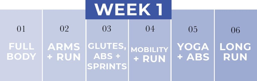 WORKOUT PLAN for runners | week 1