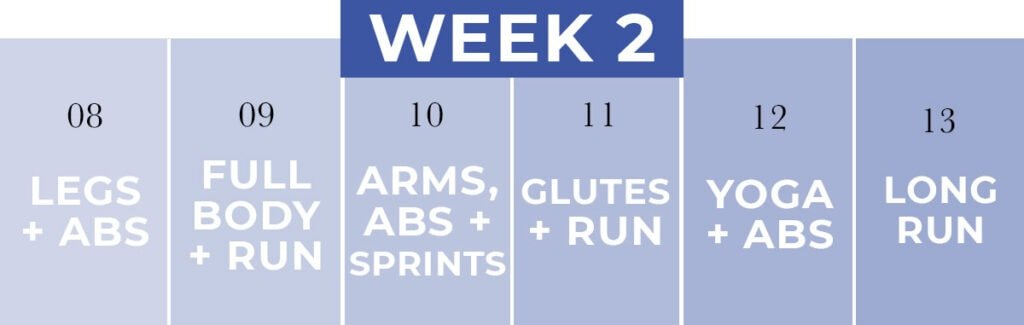 WORKOUT PLAN for runners | week 2