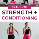 35-Minute Strength and Conditioning Workout pin for pinterest