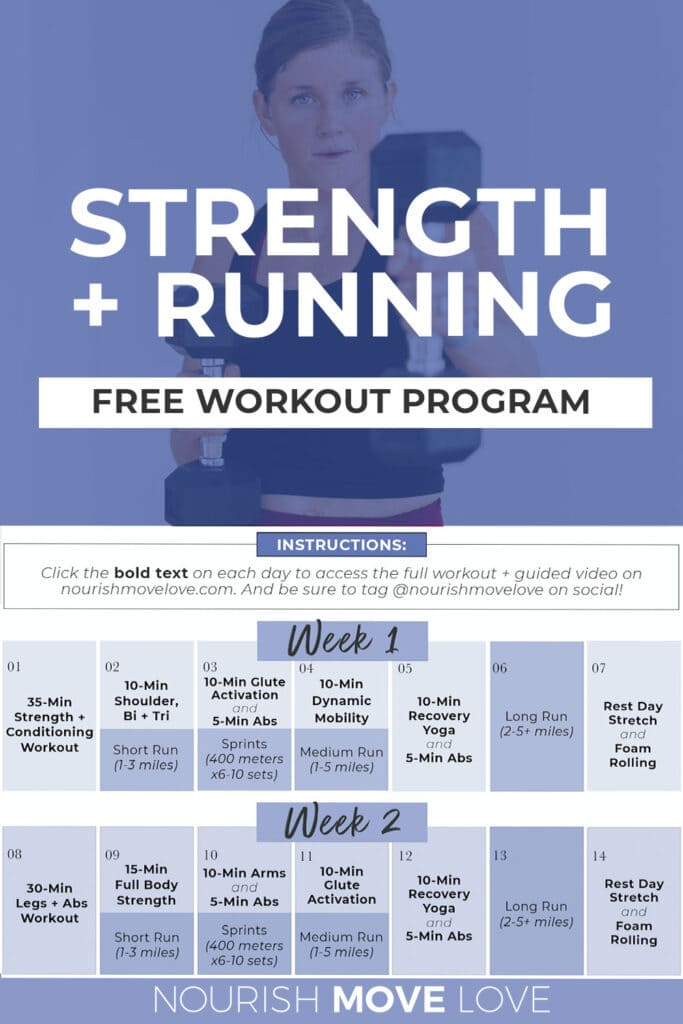 Free Strength Training and Running Workout Plan