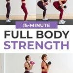 Pin for pinterest | full body strength workout