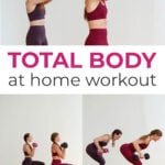 Total Body Workout At Home Pin for Pinterest