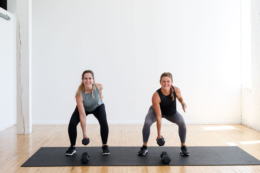 Dumbbell Squat | Postpartum Exercises to Build Strength At Home