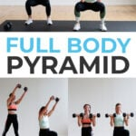 HIIT Home Workout Pin for pinterest