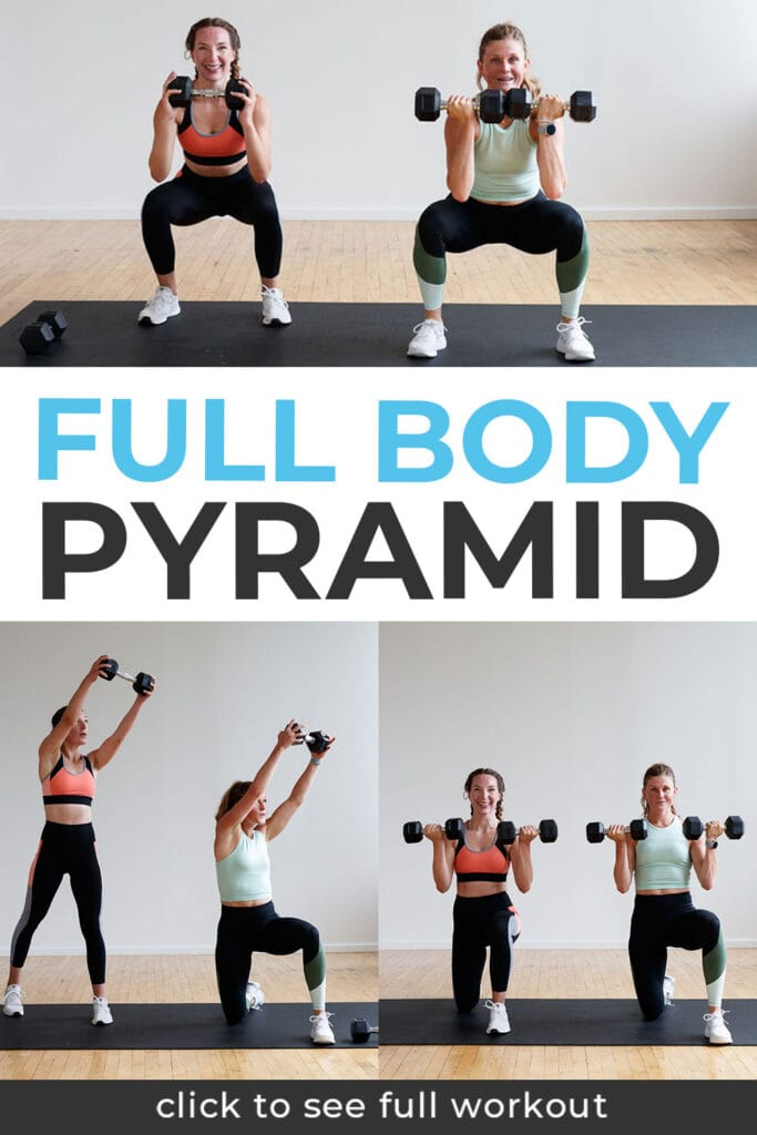 Full Body Pyramid HIIT Workout Pin for Pinterest