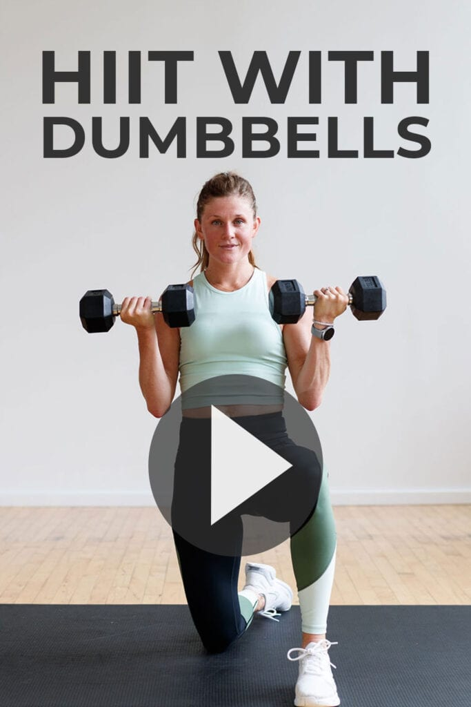 Full Body HIIT Workout At Home with Weights