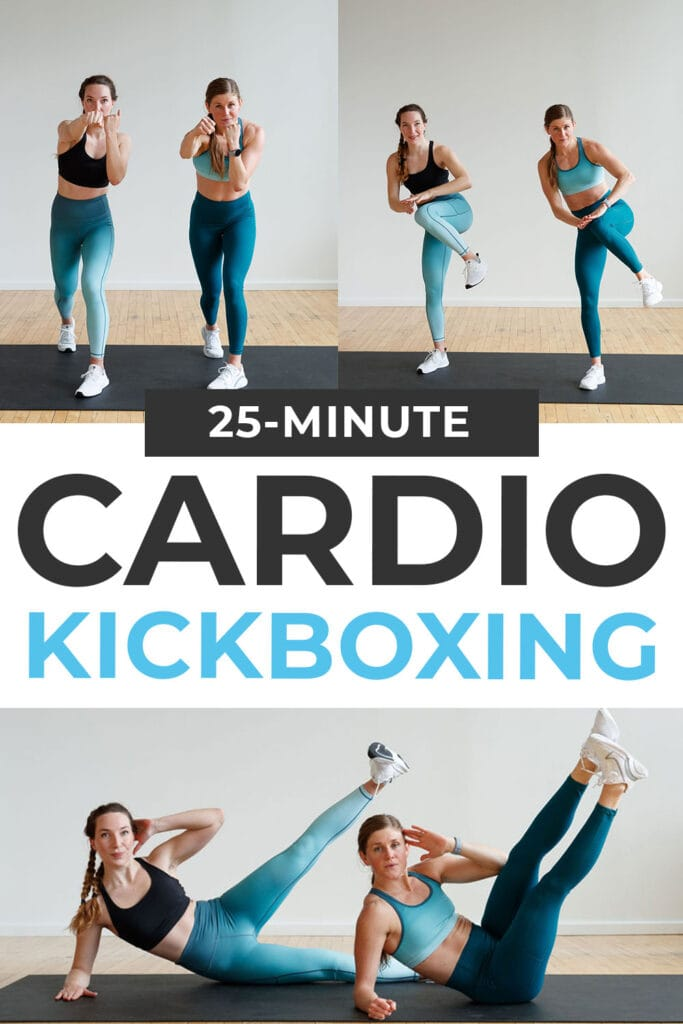 25-Minute Cardio Kickboxing Workout At Home pin for pinterest