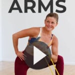 Resistance Band Arm Workout pin for pinterest
