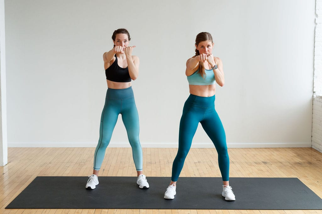 kickboxing workout | front punch or jab