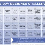 workout routines for beginners   calendar graphic