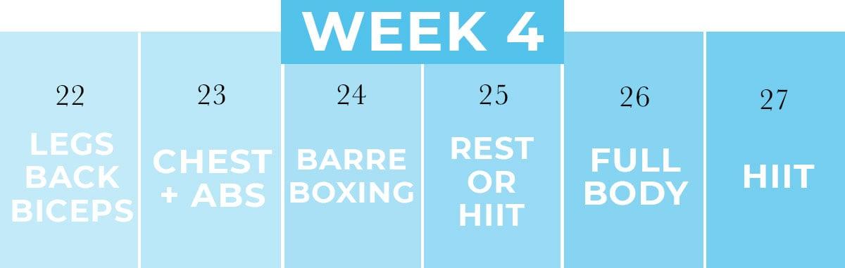 Home Workout Calendar PDF   Week 4