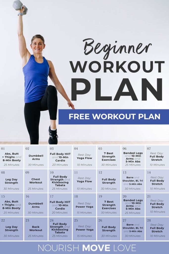 beginner workout plan and workout routines for beginners   PIN FOR PINTEREST