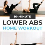 Best Lower Ab Workout pin for pinterest