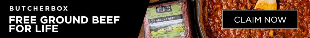 ButcherBox Free Ground Beef for Life Banner