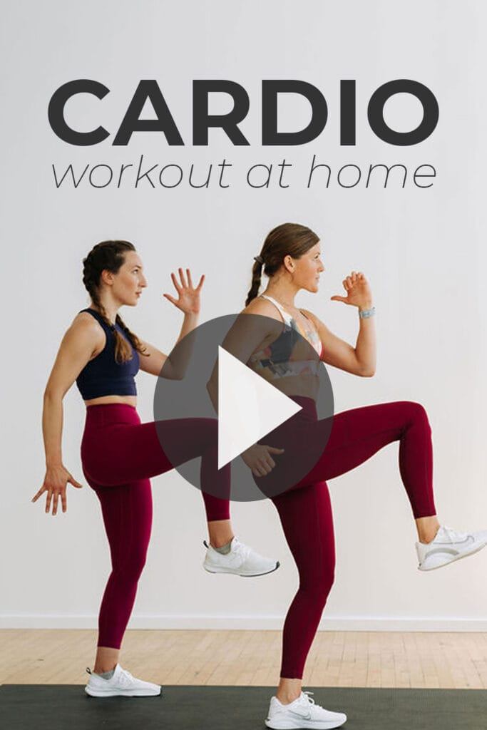 Cardio Workout At Home Pin for Pinterest