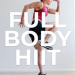 Full Body HIIT Workout pin for pinterest