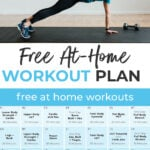 Home Workout Plan pin for pinterest