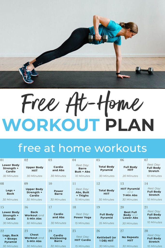 full body workouts for women at home   30 Day Home Workout Plan pin for pinterest