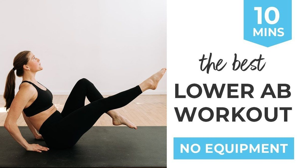 10-Minute Lower Ab Workout for Women (10 Lower Ab Exercises)