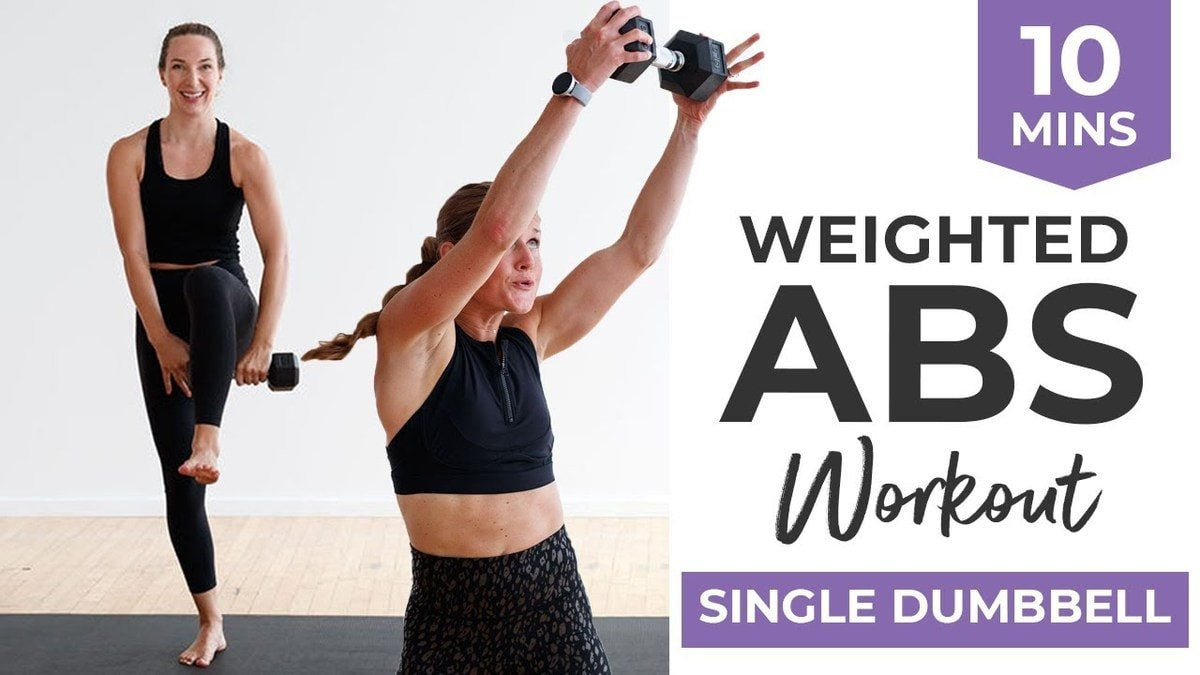 5 BEST Weighted Ab Exercises (10-Minute Abs, One Dumbbell)