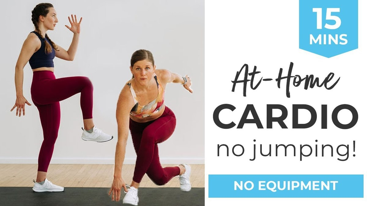 15-Minute Cardio Workout At Home (No Equipment + No Jumping)