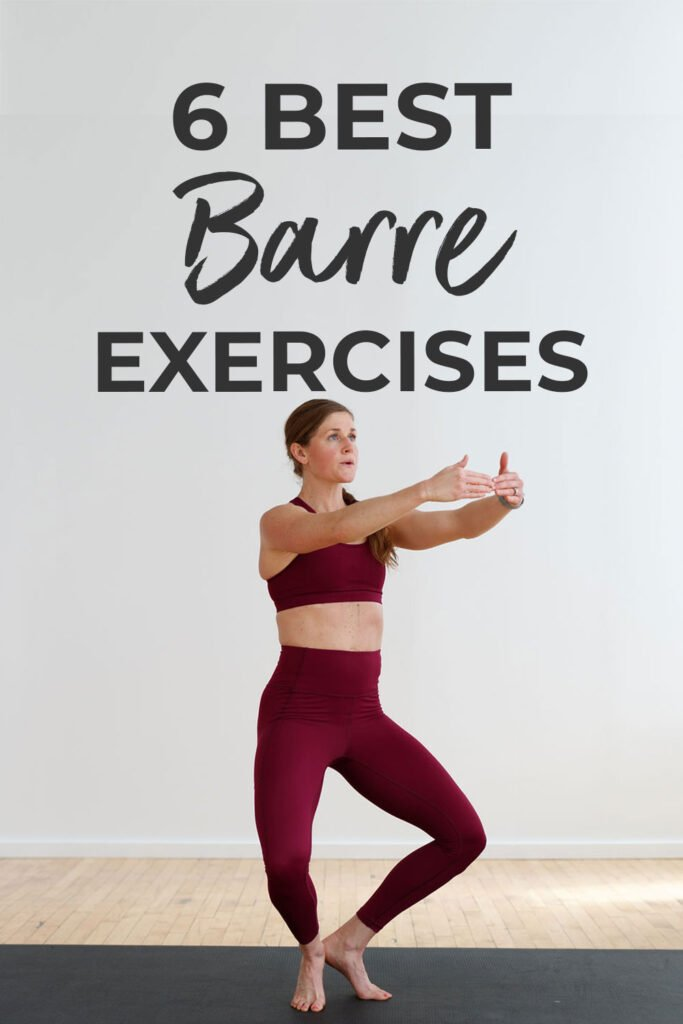 The Best Barre Exercises with no equipment   pin for pinterest