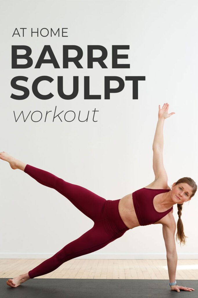 Barre Sculpt Workout At Home pin for pinterest